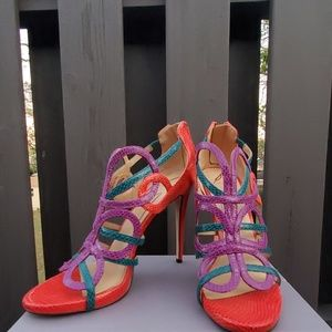 Brian Atwood multi strap heels size 10